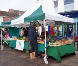 Clays organic vegetable stall